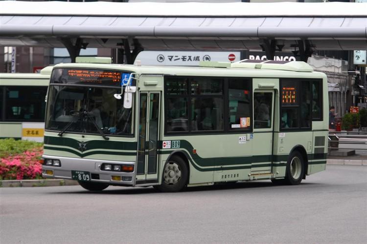 京都市交通局 京都200か・809 三菱KK-MJ27HL