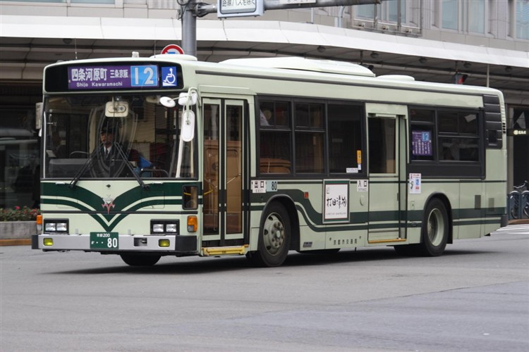 京都市バス 京都200か・・80 日野KC-HU2PMCA