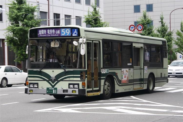 京都市バス 京都200か・・81 日野KC-HU2PMCA