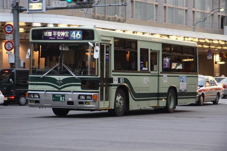 京都市バス 京都200か・・82 日野KC-HU2MLCA