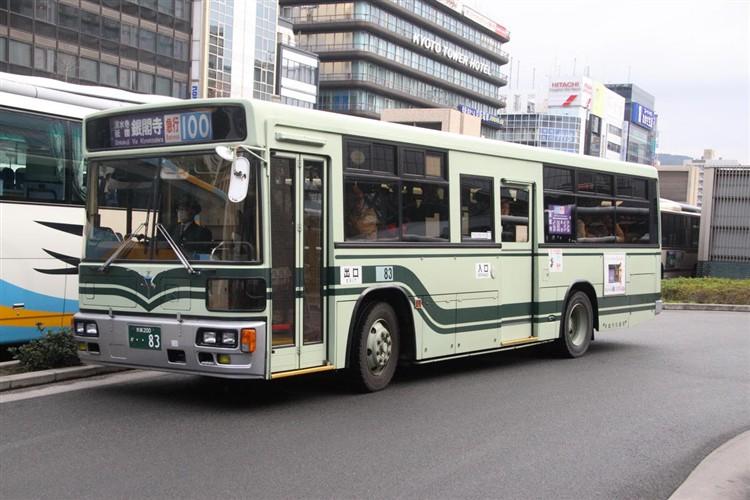 京都市バス 京都200か・・83 日野KC-HU2MLCA