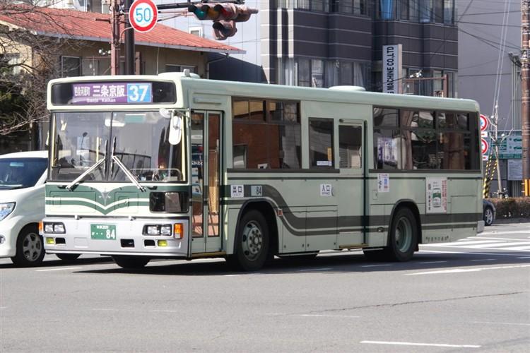 京都市バス 京都200か・・84 日野KC-HU2MLCA