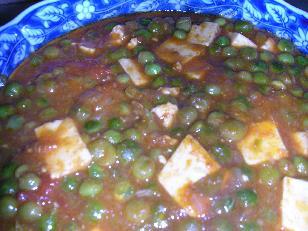 パニールと豆のカレー