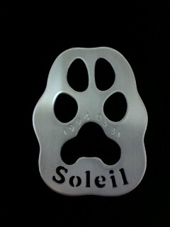 Soleil原寸大肉球プレート