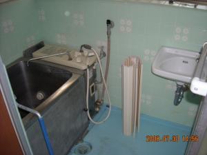 交換前のバランス釜浴槽
