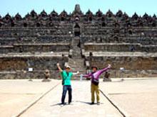 Borobudurきたどおお!!アジアのピラミッドぢゃー