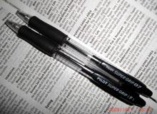 これが、俺の愛用ペンぢゃああ!どこにでもあるね、ウン