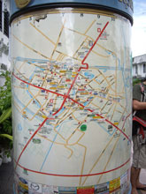 駅前の地図 こーゆーささやかな心遣い嬉しい!