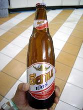 初めて見るビール!!名前はしらないけど美味い!!少し小さめ