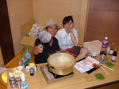 長太郎貝を売るテキヤのオジサンと看板娘
