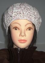 帽子5 コットン長編みアラン風B