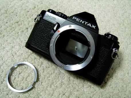 PENTAX MGと純正M42マウントアダプター