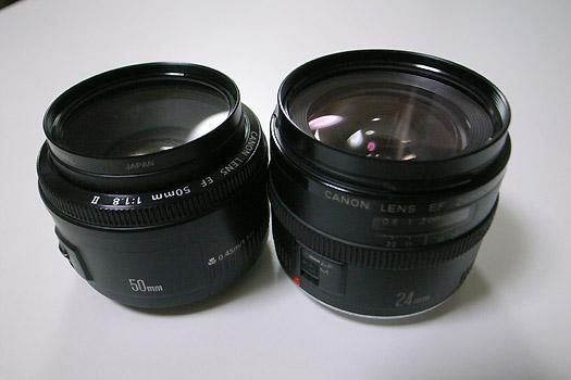 EF50mm & 24mm
