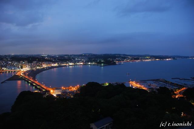 江ノ島展望灯台からの夜景(2008/8/10)