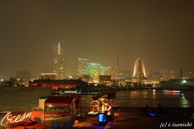 横浜港大桟橋・夜景(2008/9/14)