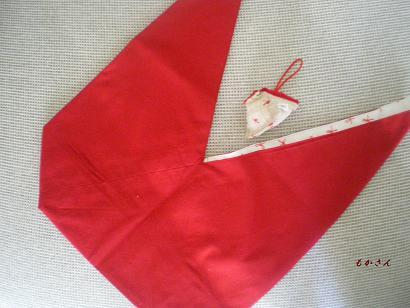 真っ赤なあずま袋