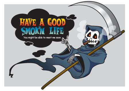 喫煙キャンペーン死神