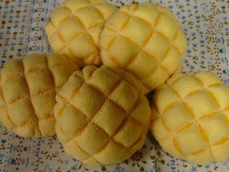 フェルト手芸 定番パン メロンパン