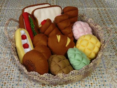 フェルト手芸 定番パン パンかご 1セット