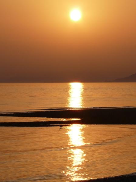 夕景 重信川河口 1