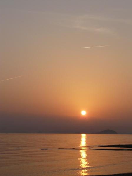 夕景 重信川河口 3