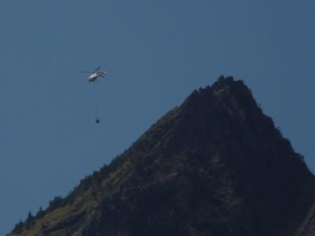 石鎚スカイラインから ヘリコプター 2