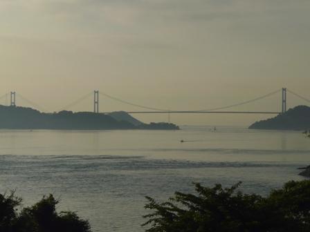 大角海浜公園から見た来島海峡大橋