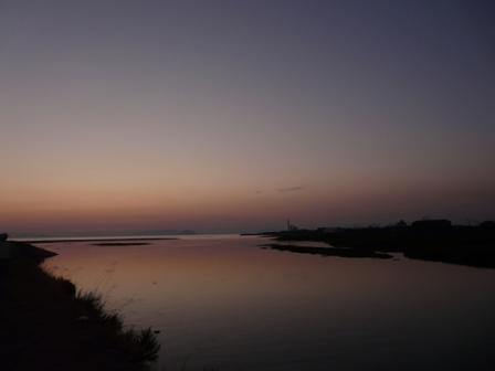 重信川河口 残照 2