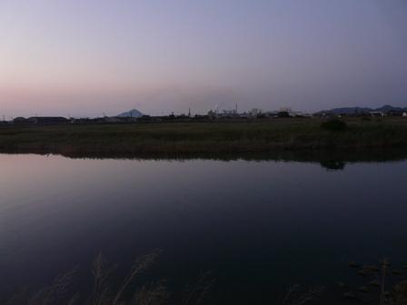 重信川河口 残照 3