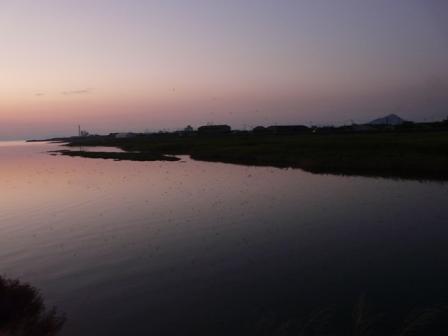 重信川河口 残照 4
