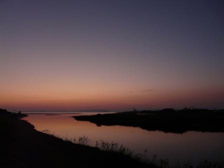 重信川河口 残照 5