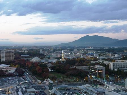 つくば三井ビルからの眺め 夕景 1