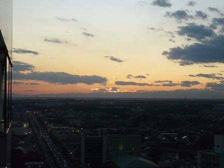 つくば三井ビルからの眺め 夕景 2