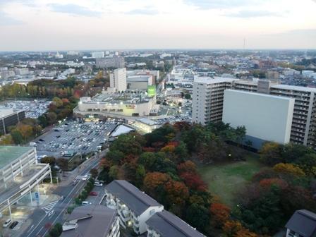 つくば三井ビルからの眺め 夕景 3
