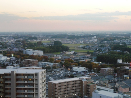 つくば三井ビルからの眺め 夕景 5