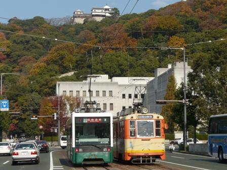 松山城 & 路面電車 1