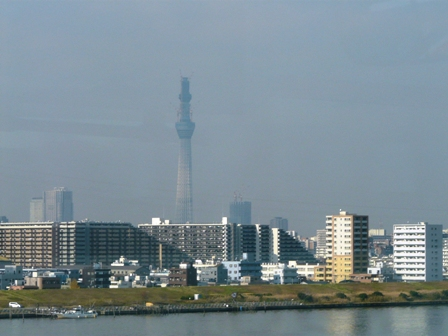 高速バスから 東京スカイツリー 1