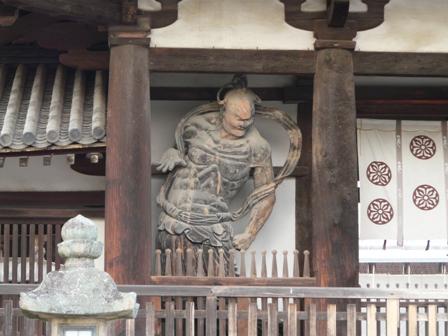 法隆寺 中門 (金剛力士像) 1