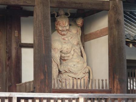 法隆寺 中門 (金剛力士像) 2