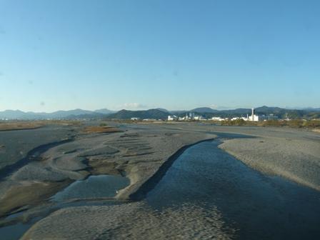 新幹線車窓 大井川