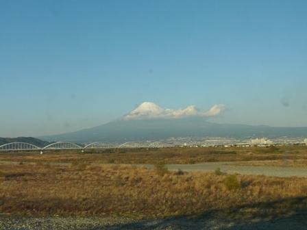 新幹線車窓 富士山 1