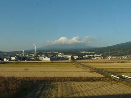 新幹線車窓 富士山 2