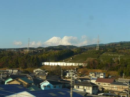 新幹線車窓 富士山 3