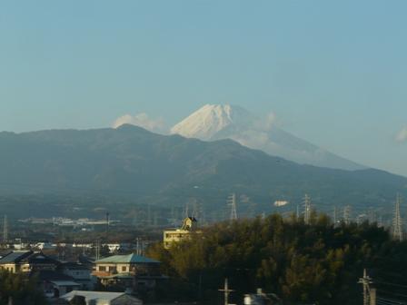 新幹線車窓 富士山 4