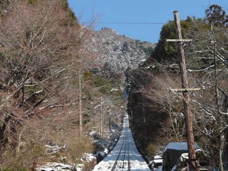 筑波山ケーブルカー (上り) から 1