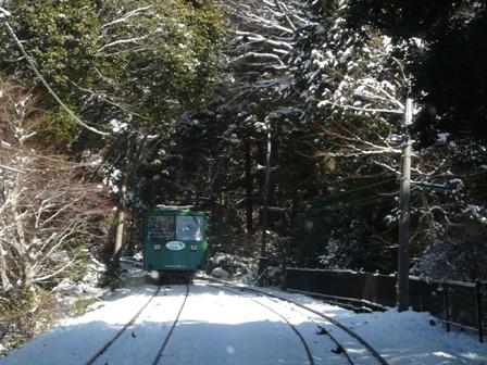 筑波山ケーブルカー (上り) から 4