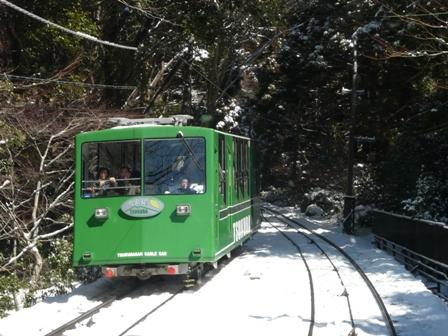 筑波山ケーブルカー (上り) から 5