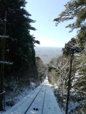 筑波山ケーブルカー (下り) から 6