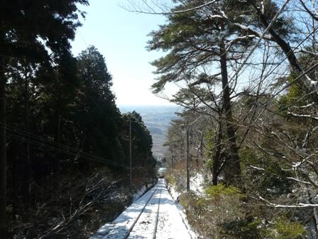 筑波山ケーブルカー (下り) から 7