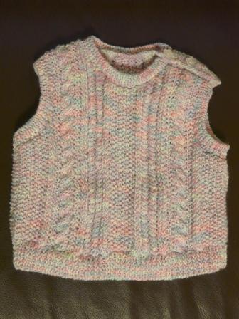 模様編みの ベスト 1